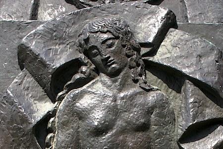 Détail d'une sculpture de Bourdelle