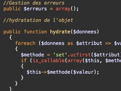Code informatique (php)