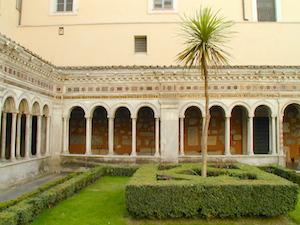 Cour intérieur de la basilique Saint-Paul à Rome