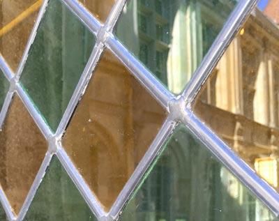 Détail d'un vitrail à Sens
