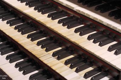 Clavier d'un orgue