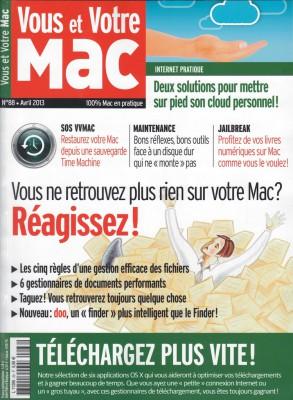 Couverture du numéro 88 de Vous et Votre Mac