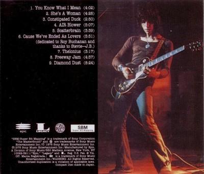 Vue arrière de la pochette de l'album