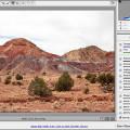 Fenêtre de logiciel pour manipuler les fichiers RAW