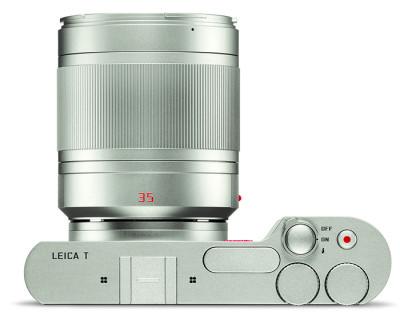 Objectif Leica 35mm monté sur un Leica T